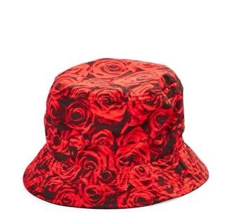 hat roses red bucket hat nice printed bucket hat