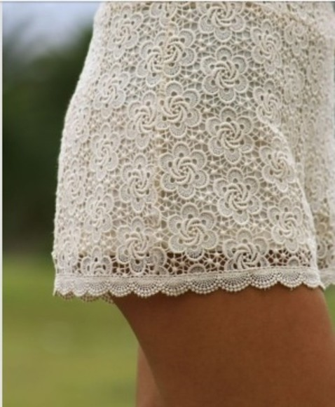 shorts lace shorts lace white lace shorts