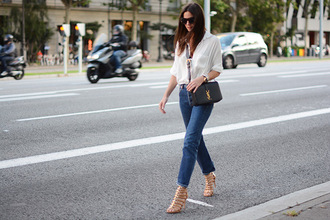 fashion vibe blogger shirt shoes jeans bag sunglasses