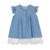 dress,cute toddlers dress,denim jean dress,sleeveless kids dress