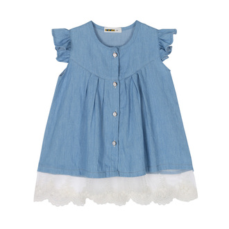 dress cute toddlers dress denim jean dress sleeveless kids dress