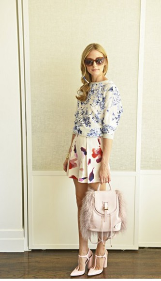 olivia palermo top shoes skirt