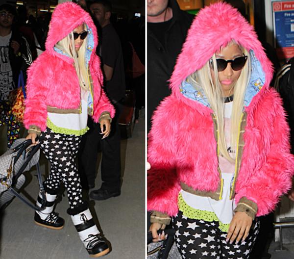jacket fluffy nicki minaj