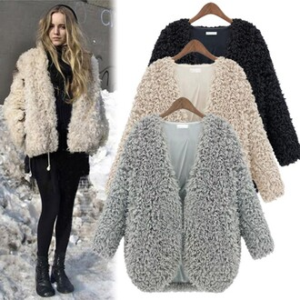 coat women autumn knitwear faux fur cardigan coat women knitwear faux fur grey black beige fall outfits winter outfits warm lady girl girly lovely slim party outifts fashionable outfits faux fur coat fall winter outfits back to school jacket fashion