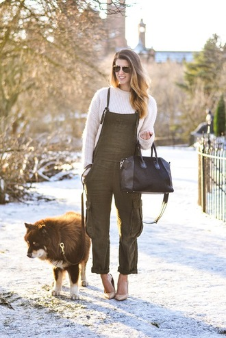 thank fifi blogger overalls black bag