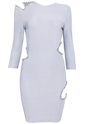 dress,dream it wear it,clothes,long sleeves,long sleeve dress,light blue,blue,light blue dress,cut-out,cut-out dress,bodycon,bodycon dress,bandage,bandage dress,crystal,crystal embellished,party,party dress,sexy party dresses,sexy,sexy dress,party outfits,summer,summer derss,summer dress,summer outfits,spring,spring dress,spring outfits,fall outfits,fall dress,winter outfits,winter dress,classy,classy dress,elegant,elegant dress,cocktail,cocktail dress,girly,date outfit,birthday dress,holiday dress,holiday season,romantic,romantic dress