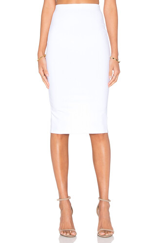 skirt midi skirt back midi slit white