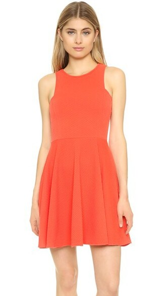 dress flare dress flare hot fit coral