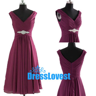purple dress v neck dress bridesmaid short bridesmaid dress zipper back dresses party dress dress