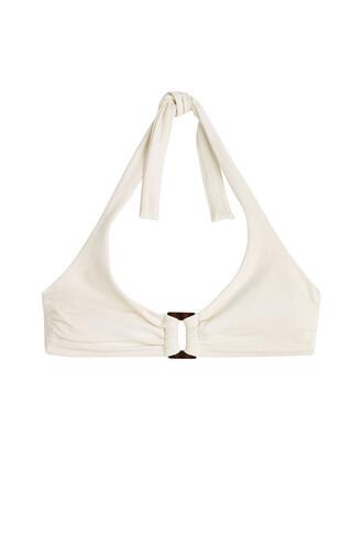 bikini halter bikini white swimwear