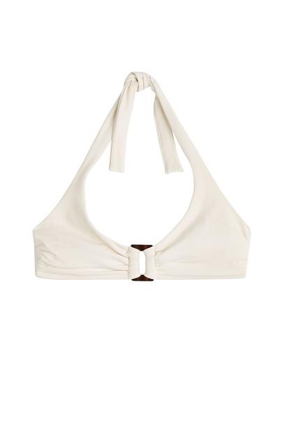 Heidi Klein bikini halter bikini white swimwear
