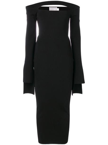 Solace London dress women spandex black