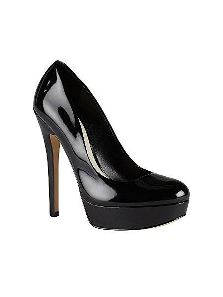 6582d0a03b6 Aldo Crixia almond toe platform court shoes Black - House of Fraser
