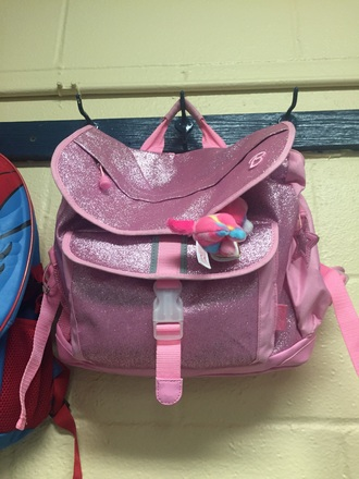 bag barbie girl bookbag backpack sparkle glitter kids fashion