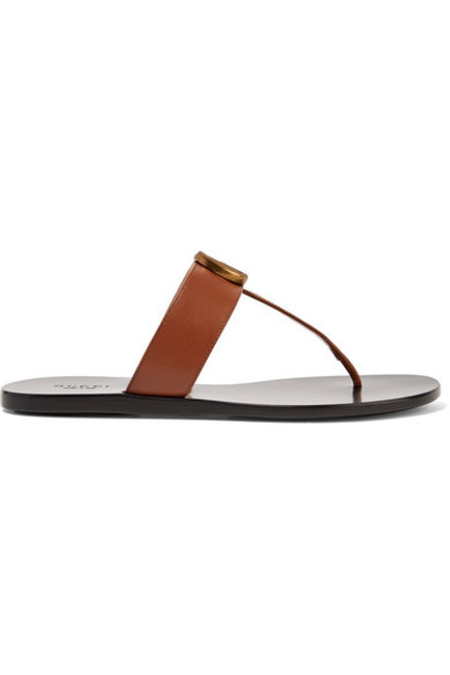 gucci sandals leather sandals leather brown shoes