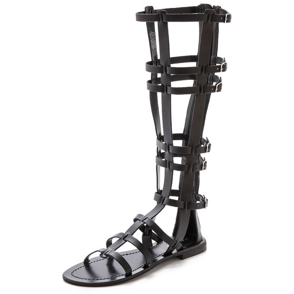 Carvela Kurt Geiger Krown Tall Gladiator Sandals - Black - Polyvore