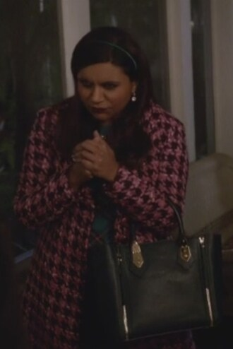 bag the mindy project mindy kaling mindy lahiri coat satchel