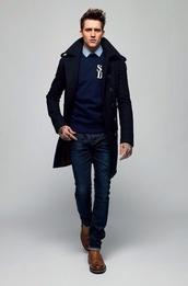 sweater,mens navy crew neck sweater