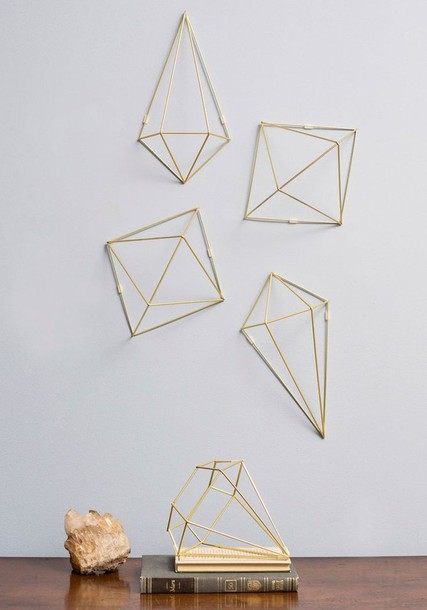 home accessory gold wall decor home decor hipster diamonds