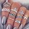 Boho style rings setboho style rings set disheefashion