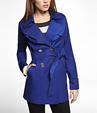 RUFFLED TRENCH COAT | Express