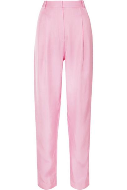 Tibi pants baby pink satin baby pink