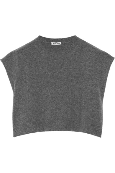 Miu Miu|Cropped cashmere sweater|NET-A-PORTER.COM