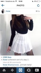 skirt,tumblr outfit,tumblr girl,tumblr skirt,tumblr,instagram,white,black,grunge