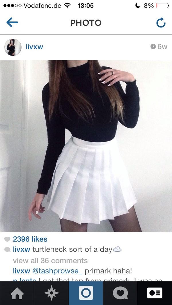 20eb3bf2ee skirt, tumblr outfit, tumblr girl, tumblr skirt, tumblr, instagram,  instagram, white, black, grunge - Wheretoget