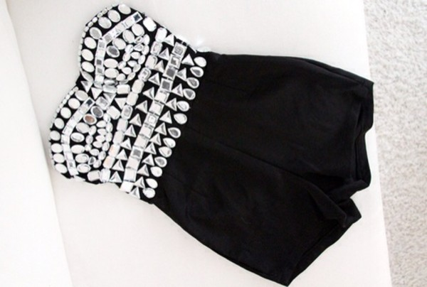 dress jumpsuit black jumpsuit romper romper diamonds crystal cute sexy tank top little black dress jumper black fashion sequins silver classy chic style formal luxury rhinestones