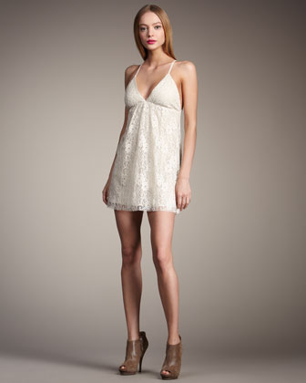 Alice   Olivia Jenny Lingerie Slip Dress - Neiman Marcus