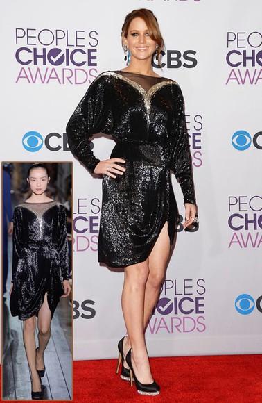 gold sequins short party dresses black dresses jennifer lawrence shimmery dress