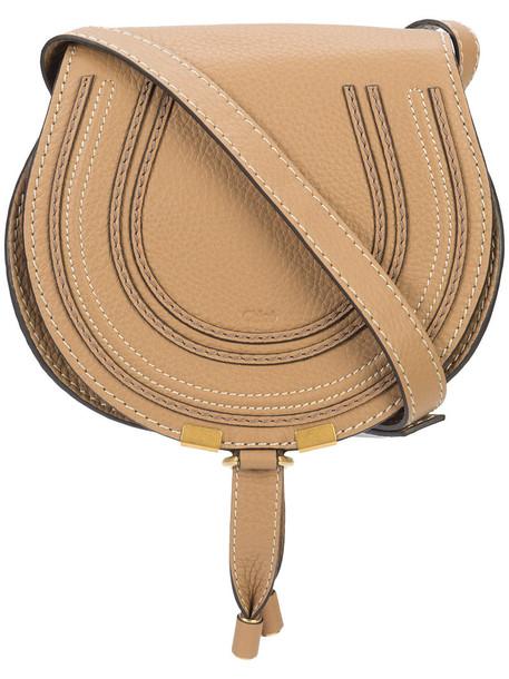cross women bag leather cotton brown