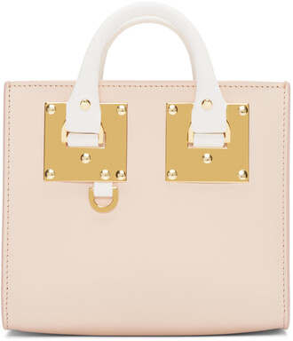 mini white pink bag