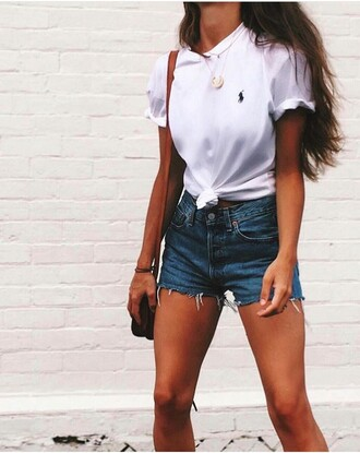 top tank top crop tops summer white shorts hot grunge designer ralph lauren shirt blouse polo shirt female polo white t-shirt ralph lauren polo