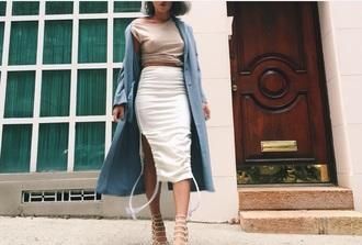 skirt shoes heels cream nude
