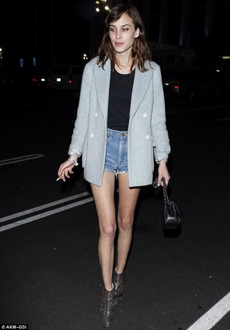 coat alexa chung grey blazer boyfriend