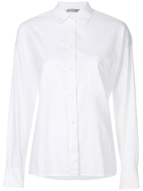 Vince shirt women white cotton silk top