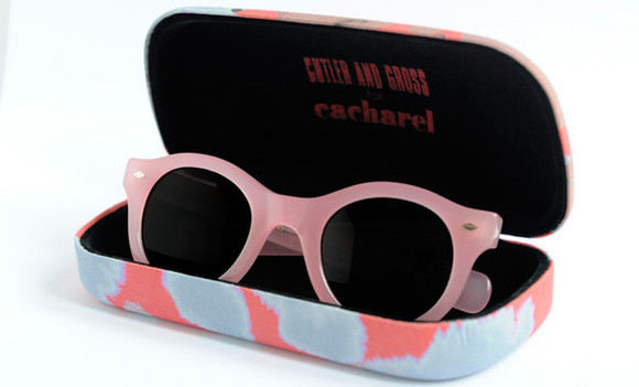 cacharel cutler and gross round pink pink sunglasses