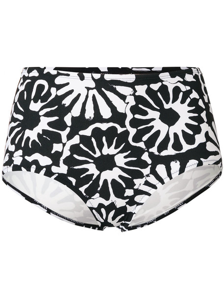 Tory Burch bikini floral bikini bikini bottoms high women spandex floral black swimwear