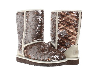 shoes uggs boots sparkly cute champagne silver style popular