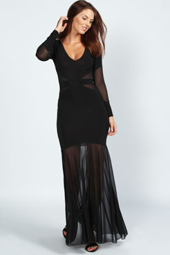 Faye Fishtail Maxi Dress at boohoo.com