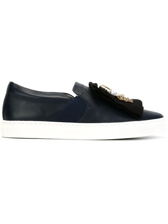embellished sneakers blue shoes