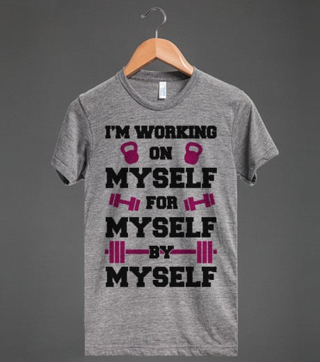 I'm Working On Myself | Athletic T-shirt | Skreened