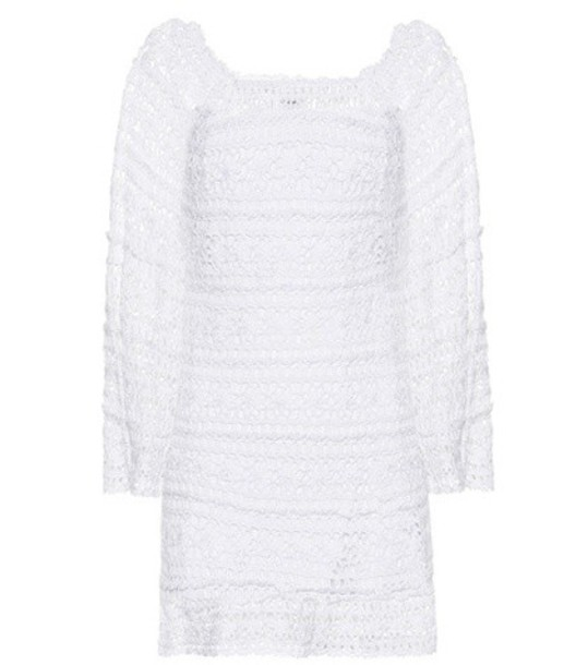 Anna Kosturova Bella cotton dress in white
