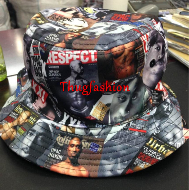 hip hop tupac bucket hat fashion hat 2293c0d6762
