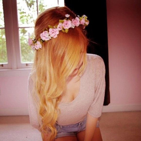 jewels floral headband flowers summer acessories sweet must have