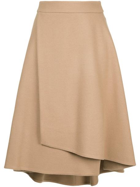 Estnation skirt wrap skirt women wool brown