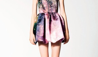 dress galaxy galaxy dress pretty purple blue pink green black skirt galaxy skirt zipper