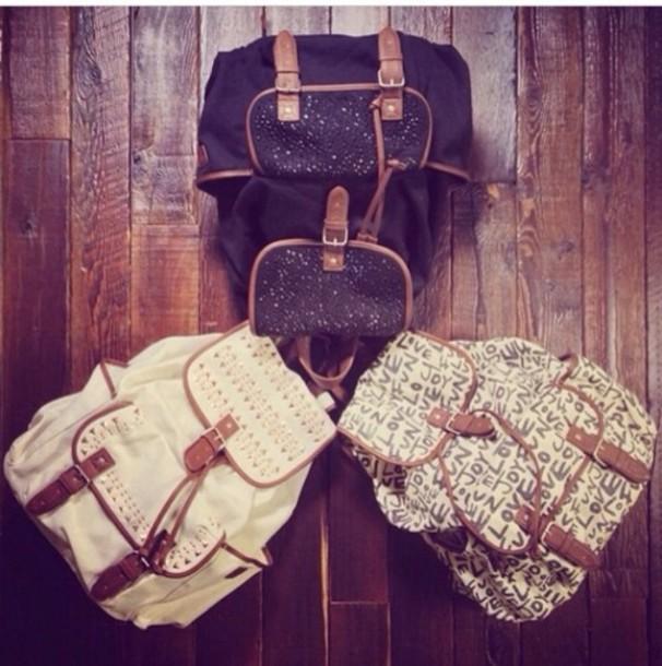bag bag backpack backpack vintage vintage backpack studded backpack knapsack